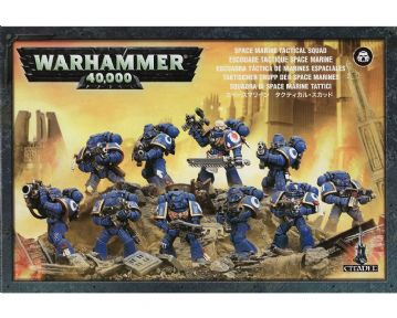 Games Workshop Warhammer 40000 40K Space Marine Tactical Squad 48-07